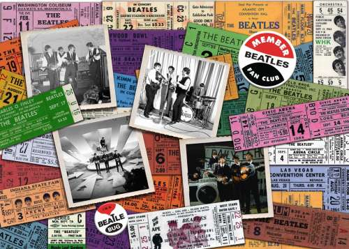 Beatles Tickets (RB19751-4), a 1000 piece jigsaw puzzle by Ravensburger. Click to view larger image.