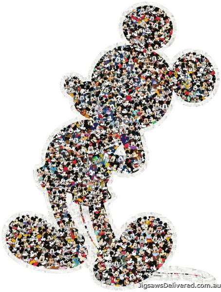 Mickey (Shaped Puzzle) (RB16099-0), a 945 piece jigsaw puzzle by Ravensburger.