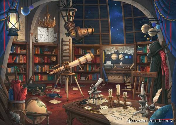 The Observatory Puzzle (ESCAPE 1) (RB19956-3), a 759 piece jigsaw puzzle by Ravensburger.