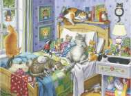 Cat Nap (Large Pieces) (RB14966-7), a 500 piece jigsaw puzzle by Ravensburger. Click to view this jigsaw puzzle.