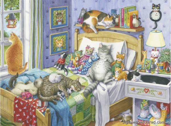 Cat Nap (Large Pieces) (RB14966-7), a 500 piece jigsaw puzzle by Ravensburger.