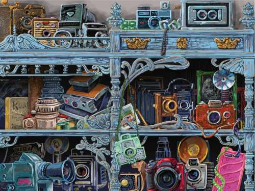 Camera Evolution (Large Pieces) (RB13586-8), a 300 piece jigsaw puzzle by Ravensburger. Click to view larger image.