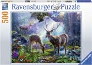 Deer in the Wild (RB14828-8), a 500 piece Ravensburger jigsaw puzzle.