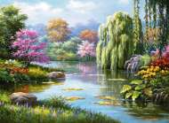 Romantic Pond View (RB14827-1), a 500 piece jigsaw puzzle by Ravensburger. Click to view this jigsaw puzzle.