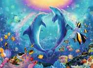 Dancing Dolphins (RB14811-0), a 500 piece Ravensburger jigsaw puzzle.
