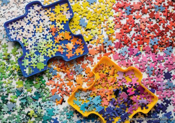 The Puzzler's Palette (RB15274-2), a 1000 piece jigsaw puzzle by Ravensburger.