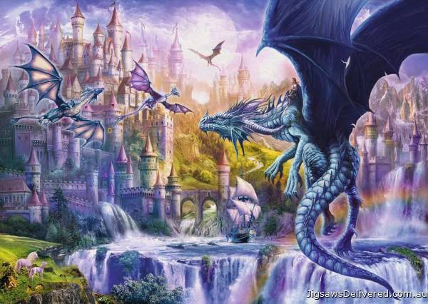 Dragon Castle (RB15252-0), a 1000 piece jigsaw puzzle by Ravensburger.