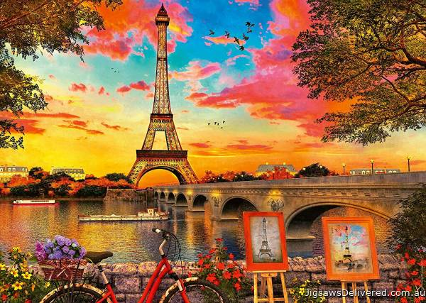 The Banks of the Seine, Paris (RB15168-4), a 1000 piece jigsaw puzzle by Ravensburger.