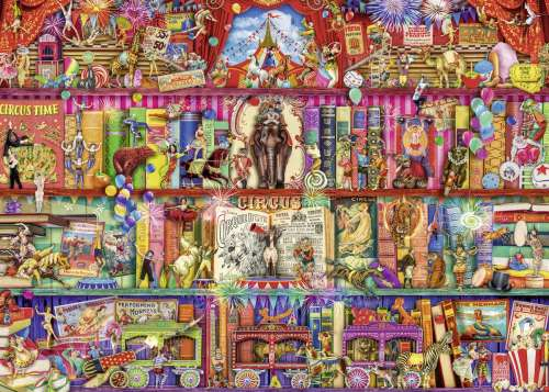 The Greatest Show on Earth (RB15254-4), a 1000 piece jigsaw puzzle by Ravensburger. Click to view larger image.