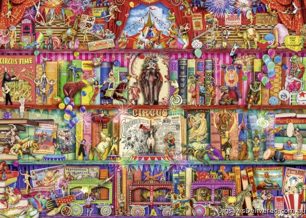 The Greatest Show on Earth (RB15254-4), a 1000 piece jigsaw puzzle by Ravensburger.