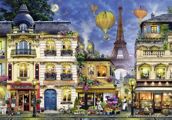 Evening Walk in Paris (RB17829-2), a 18000 piece jigsaw puzzle by Ravensburger.