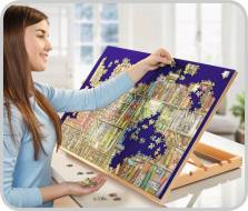 Wooden Easel Puzzle Board (1000 Pieces) (RB17973-2), a 1000 piece Ravensburger jigsaw puzzle.