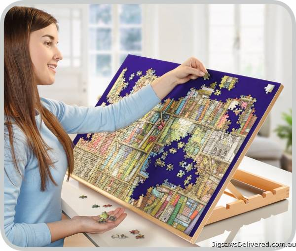 Wooden Easel Puzzle Board (1000 Pieces) (RB17973-2), a 1000 piece jigsaw puzzle by Ravensburger.
