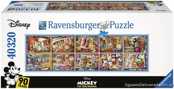 Disney Mickey Through the Years 40000 piece (RB17828-5), a 40320 piece jigsaw puzzle by Ravensburger.