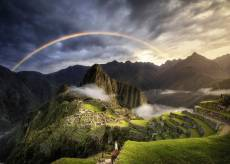 Rainbow over Machu P.... Click to view this product
