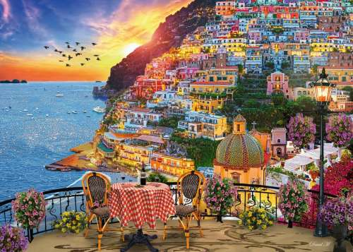 Positano, Italy (RB15263-6), a 1000 piece jigsaw puzzle by Ravensburger. Click to view larger image.