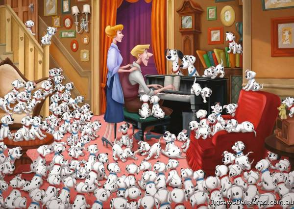 101 Dalmatians (Disney Moments) (RB13973-6), a 1000 piece jigsaw puzzle by Ravensburger.