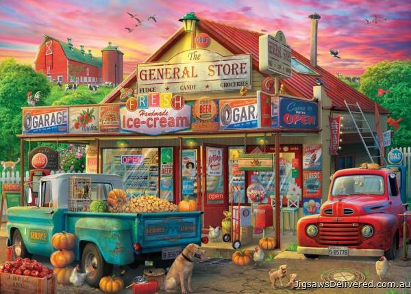 General Store (Large Pieces) (HOL771233), a 500 piece jigsaw puzzle by Holdson.