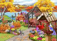 Rustic Garden (Birdsong) (HOL771202), a 1000 piece Holdson jigsaw puzzle.