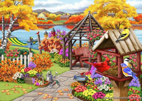 Rustic Garden (Birdsong) (HOL771202), a 1000 piece jigsaw puzzle by Holdson.