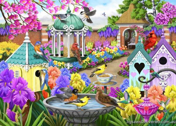 Victorian Garden (Birdsong) (HOL771189), a 1000 piece jigsaw puzzle by Holdson.