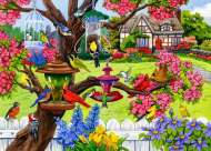 Bountiful Spring (Birdsong) (HOL771172), a 1000 piece Holdson jigsaw puzzle.