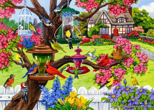 Bountiful Spring (Birdsong) (HOL771172), a 1000 piece jigsaw puzzle by Holdson.