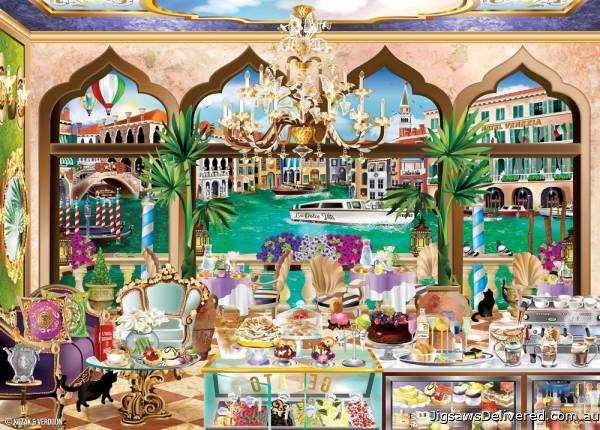 Venice La Dolce Vita (Windows to the World) (HOL771158), a 1000 piece jigsaw puzzle by Holdson.