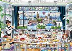 London Tea Party (Windows to the World) (HOL771141), a 1000 piece Holdson jigsaw puzzle.