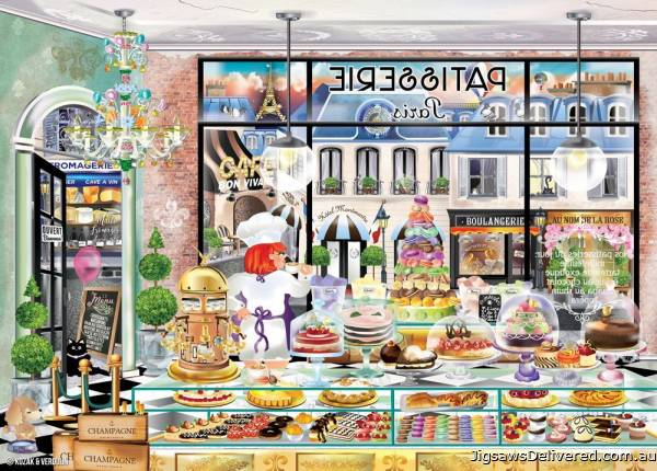 Bonjour Paris (Windows to the World) (HOL771134), a 1000 piece jigsaw puzzle by Holdson.
