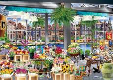 Amsterdam Flower Market (Windows to the World) (HOL771127), a 1000 piece Holdson jigsaw puzzle.