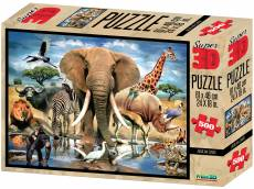 African Oasis (3D Effect) (CAA10065), a 500 piece Crown and Andrews jigsaw puzzle.