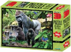 Gorillas (3D Effect) (CAA10066), a 500 piece Crown and Andrews jigsaw puzzle.