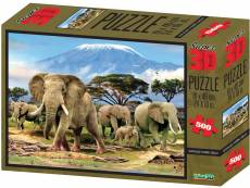 Kilimanjaro Morning Sunlight (3D Effect) (CAA10100), a 500 piece Crown and Andrews jigsaw puzzle.
