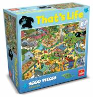 The Zoo (That's Life) (CAA71308), a 1000 piece Crown and Andrews jigsaw puzzle.
