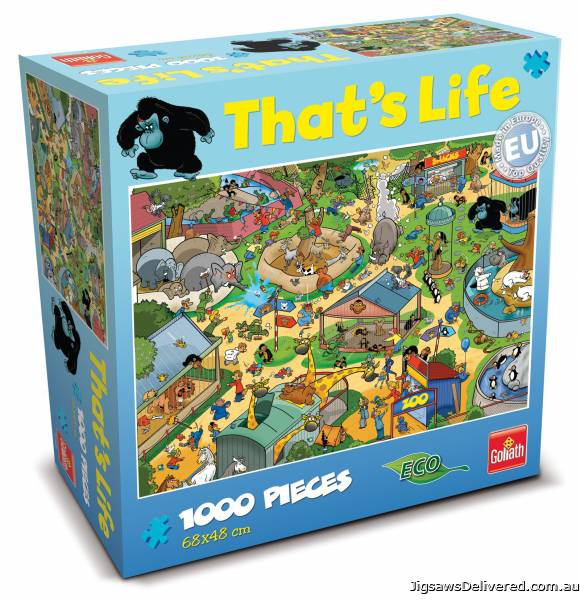 The Zoo (That's Life) (CAA71308), a 1000 piece jigsaw puzzle by Crown and Andrews.