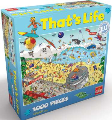 Bondi Beach (That's Life) (CAA71345), a 1000 piece jigsaw puzzle by Crown and Andrews. Click to view larger image.