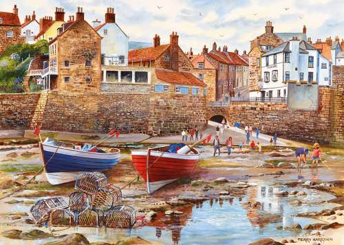 Robin Hood's Bay (GIB061895), a 1000 piece jigsaw puzzle by Gibsons. Click to view larger image.