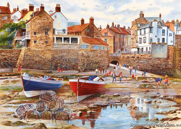 Robin Hood's Bay (GIB061895), a 1000 piece jigsaw puzzle by Gibsons.