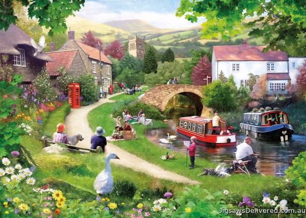 Life in the Slow Lane (GIB061505), a 1000 piece jigsaw puzzle by Gibsons.