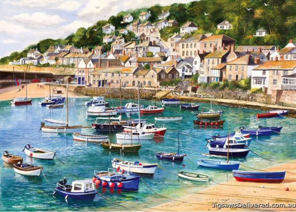 Mousehole, Cornwall (GIB061277), a 1000 piece jigsaw puzzle by Gibsons.