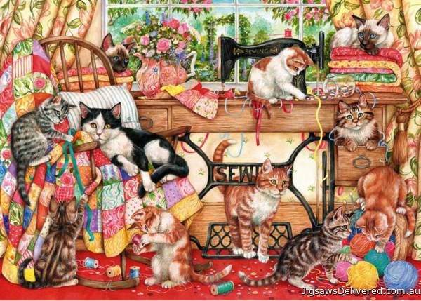 A Lost Stitch (GIB061086), a 1000 piece jigsaw puzzle by Gibsons.