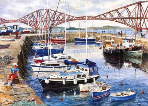 Queensferry Harbour (GIB060898), a 1000 piece jigsaw puzzle by Gibsons. Click to view larger image.