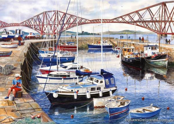 Queensferry Harbour (GIB060898), a 1000 piece jigsaw puzzle by Gibsons.