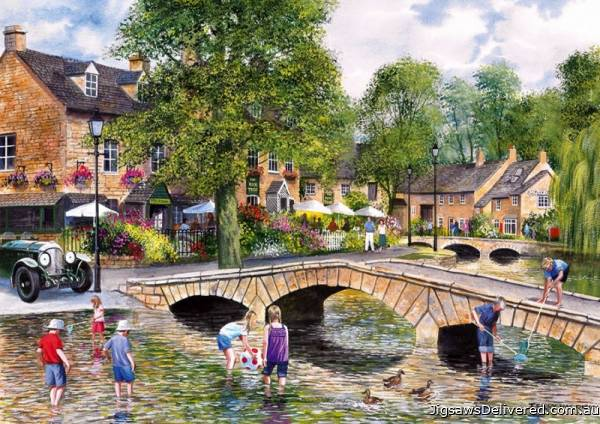Bourton on the Water (GIB060720), a 1000 piece jigsaw puzzle by Gibsons.