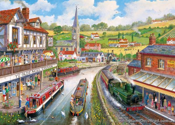 Ye Olde Mill Tavern (Large Pieces) (GIB035285), a 500 piece jigsaw puzzle by Gibsons.
