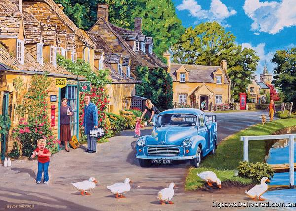 Morning Delivery (Large Pieces) (GIB035360), a 500 piece jigsaw puzzle by Gibsons.