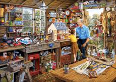 Grandad's Workshop (Large Pieces) (GIB035339), a 500 piece Gibsons jigsaw puzzle.