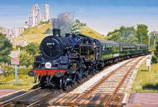 Corfe Castle Crossing. Click to view this product