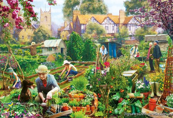 Green Fingers (GIB031102), a 500 piece jigsaw puzzle by Gibsons.